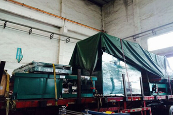 Lianxing independent research and development of large high frequency plastic welding machine and shipment